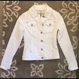 Guess white denim jacket xs